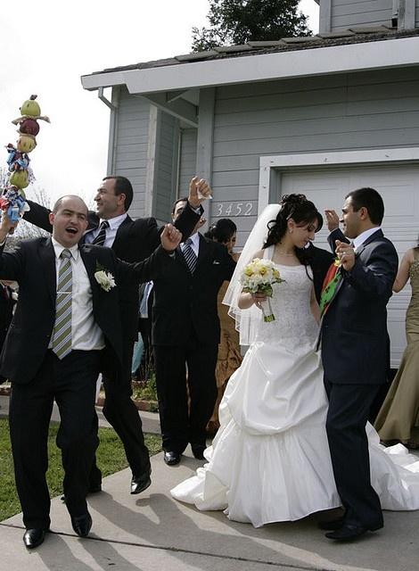 Dancing begins at home in an Armenian wedding