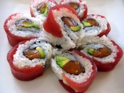 My favorite sushi, sakura roll!