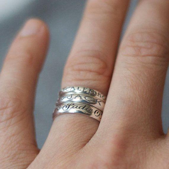 Custom Name Engraved Ring