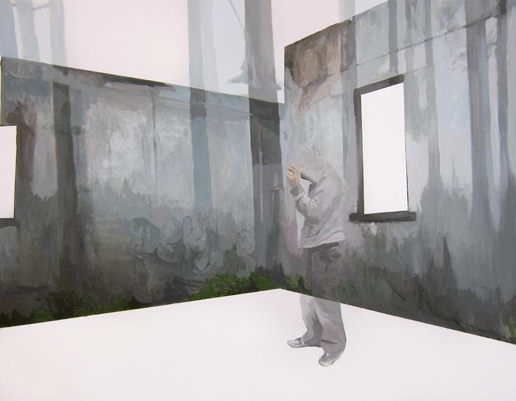 Anna Caruso | www.annacaruso.it | La domanda non è 'dove?'| acrylic on canvas, 75x100cm, 2013