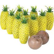 Island pineapple bowling set.. spongebob party or luau party game