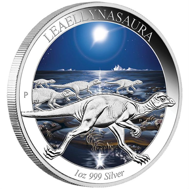 Australian Age of Dinosaurs - Leaellynasaura 2015 1oz Silver Proof Coloured Coin | The Leaellynasaura is the third coin in this exciting five-coin series which features Australian dinosaurs that existed during the Cretaceous Period between 112 and 102 million years ago