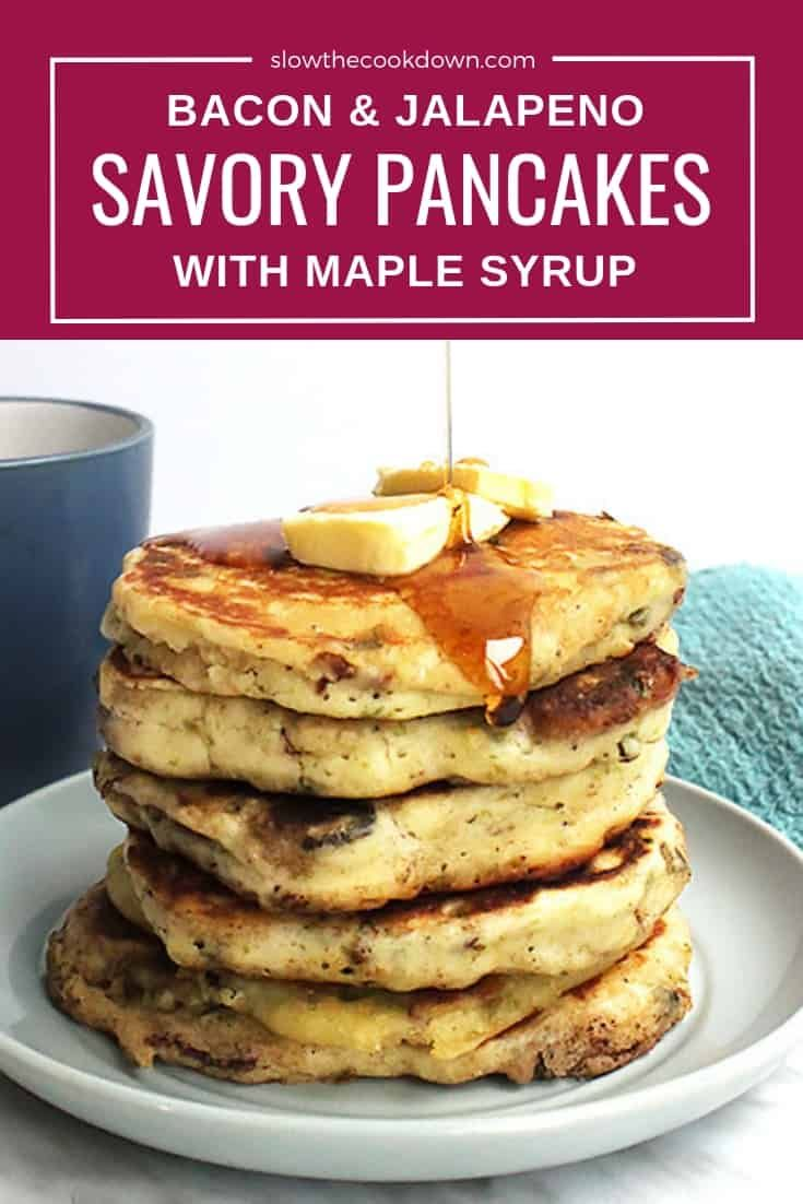 Your Weekend Breakfast Is About To Get Exciting These Savory Pancakes Are Made With Bacon With Images Stuffed Jalapenos With Bacon Fall Favorites Recipes Savory Pancakes