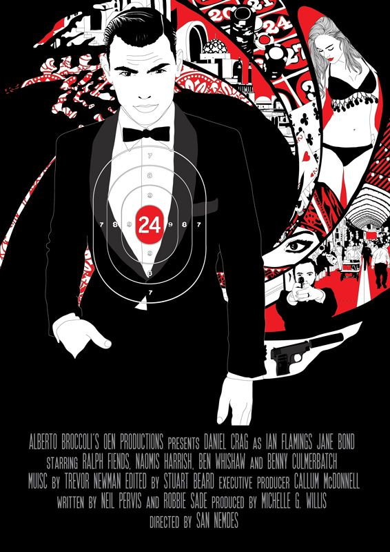 Conceptual filmposter for the 24th James Bond movie.