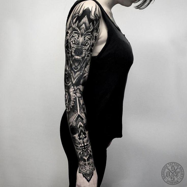 wolf-full-sleeve-tattoo-by-darkside-tattoo