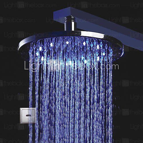 LED Chrome Automatic Cold Touchless Sensor Shower Faucet - http://zzkko.com/n15424-ED-Chrome-Automatic-Cold-Touchless-Sensor-Shower-Faucet.html $20.48