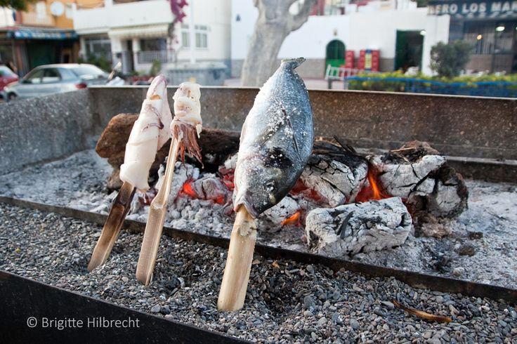 #Andalusia #Málaga #Food Grilled fish at the beach of Málaga. For more information: http://www.amazon.co.uk/M%C3%A1laga-Capital-Coast-Brigitte-Hilbrecht/dp/1517300533/ref=sr_1_1?s=books&ie=UTF8&qid=1456574193&sr=1-1&keywords=malaga