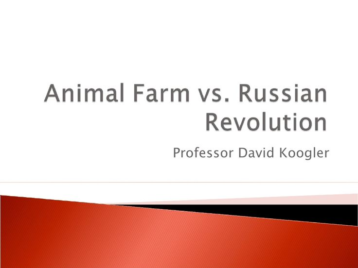 an analysis of the theme of rusian revolution in animal farm by orwell The thesis statement would be as simple as stating that there are many parallels between the russian revolution and ensuing communist takeover and the events in george orwell's novel animal farm thesis statement / essay topic #4: from utopia to distopia.