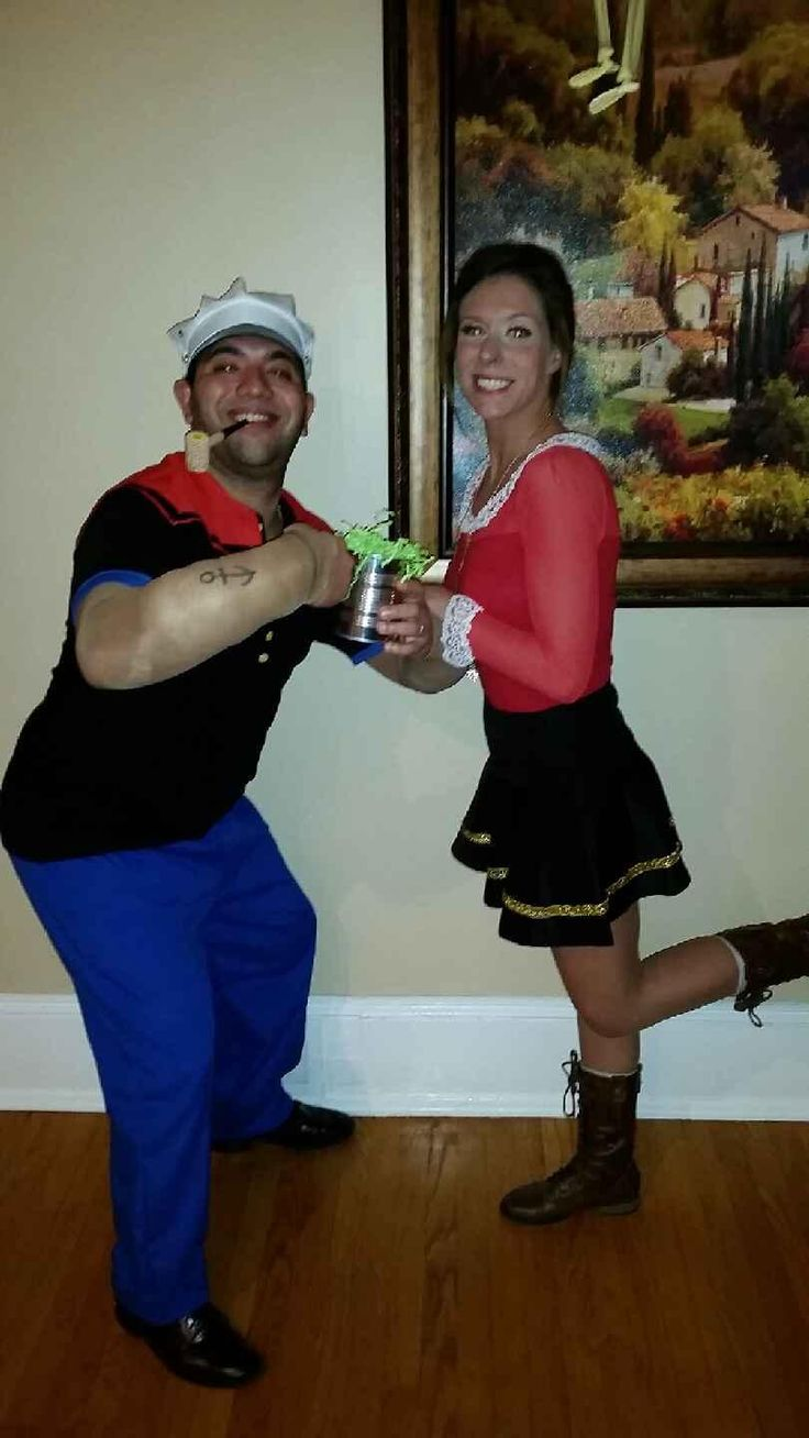 homemade popeye olive oyl costume finished product happy halloween popeye olive oyl. Black Bedroom Furniture Sets. Home Design Ideas