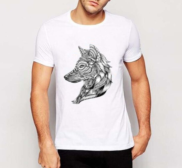Fashion wolf t shirt men Winter is coming Casual Sketch painting T shirt Fitness Game of Thrones Wolf T-shirt  C3-1# #Affiliate