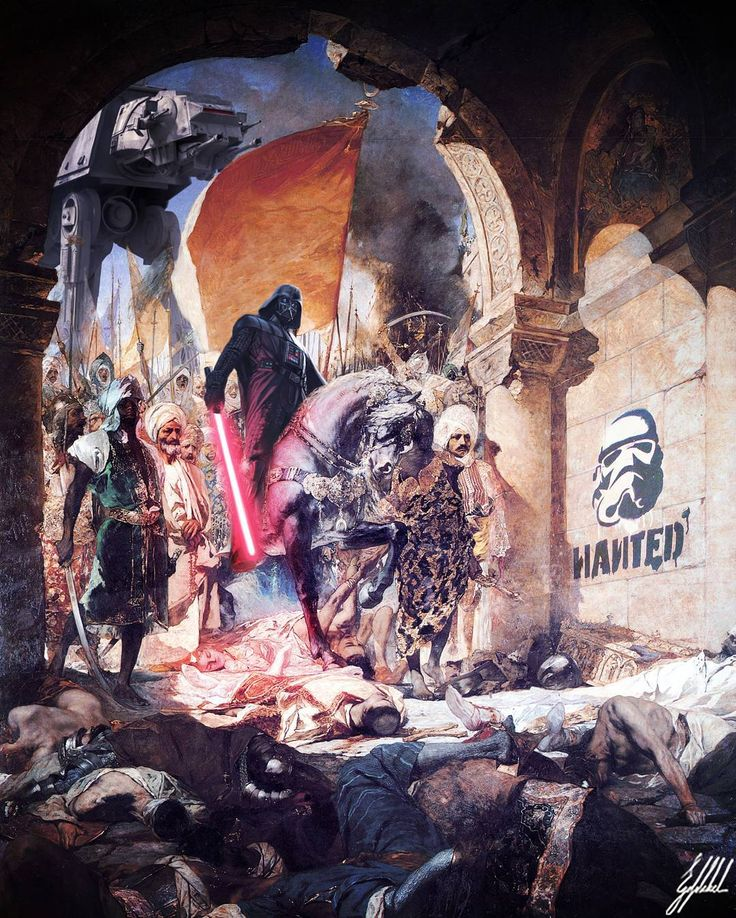 #famous #painting #istanbul #constantinapolis #starwars #darthvader #art #artwork #photomanipulation   What If Ottomans were from the Star Wars Universe?  The Entry of Mehmet II into Constantinople painting by Jean-Joseph Benjamin-Constant.