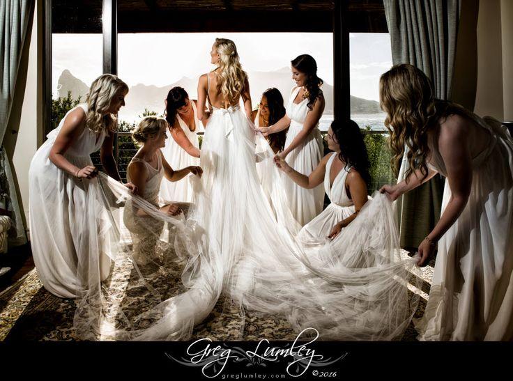 Bride and bridesmaids at Tintswalo Atlantic