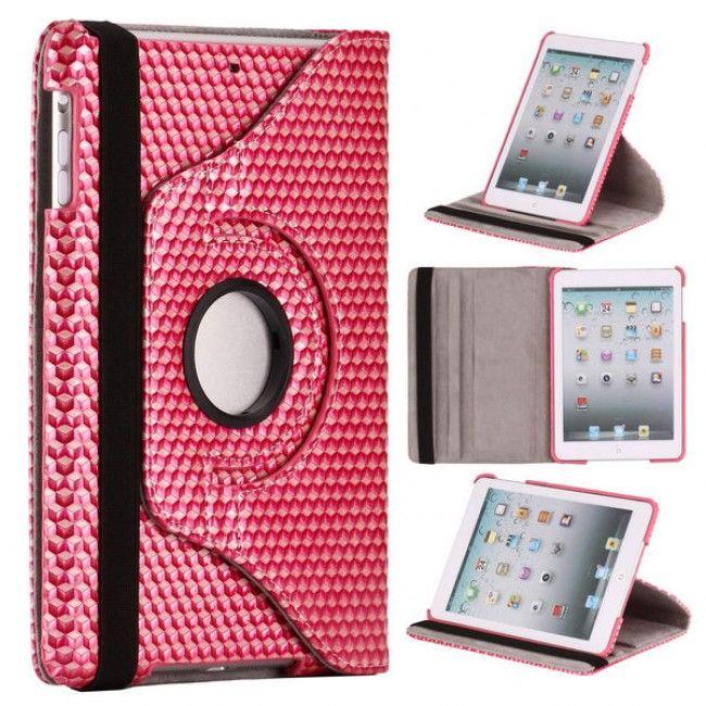 TEKTA iPad Mini Nahkakotelo - 360 Astetta Sädettävä Standi (Pinkki) - http://lux-case.fi/tekta-ipad-mini-nahkakotelo-standilla-vaaleanpunainen.html