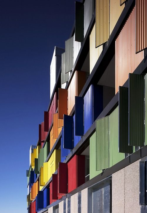 82 State subsidized housing building in Carabanchel by...