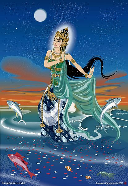 Kanjeng Ratu Kidul by Gunawan Kartapranata, 2013. She's the Queen of the Southern Sea of Java (Indian Ocean or Samudra Kidul, south of Java island)