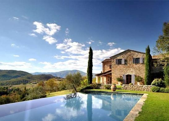Dream home in Italy, Casa del Leone - One of the most beautiful places and a beautiful home. It is a restored antique Italian villa with a guest house, vineyards (Cabernet Sauvignon and Merlot), infinity pool, and many other features. The views are magnificent.