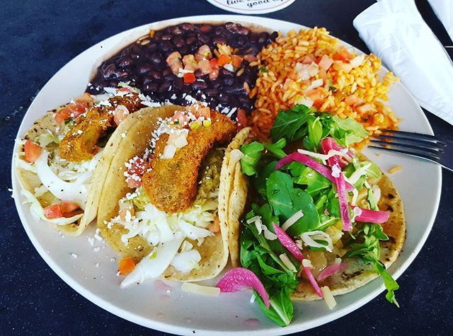 #Tacos. Because everyone deserves a #yummy #treat every now and then... And for my next trick, I think I'll take a #nap.  #StreetTacos #foodporn #friedavocado #sweetpotatoes #blackbeans #Spanishrice #yum #getinmybelly #eatwell #treatyoself  Yummery - best recipes. Follow Us! #foodporn