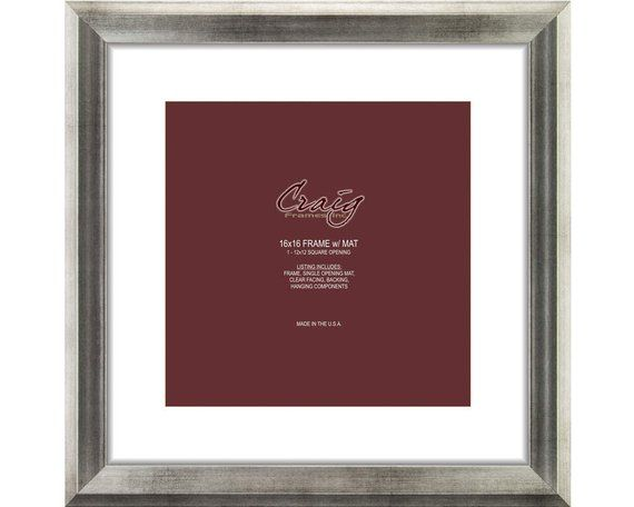 Craig Frames 16x16 Inch Antique Silver Picture Frame Single With Images Silver Picture Frames Craig Frames Picture Frames