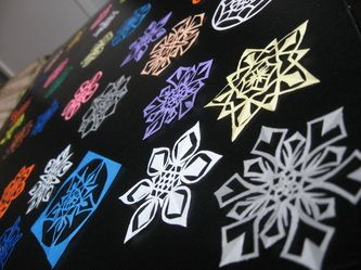 Amazing hand cut paper snowflakes!