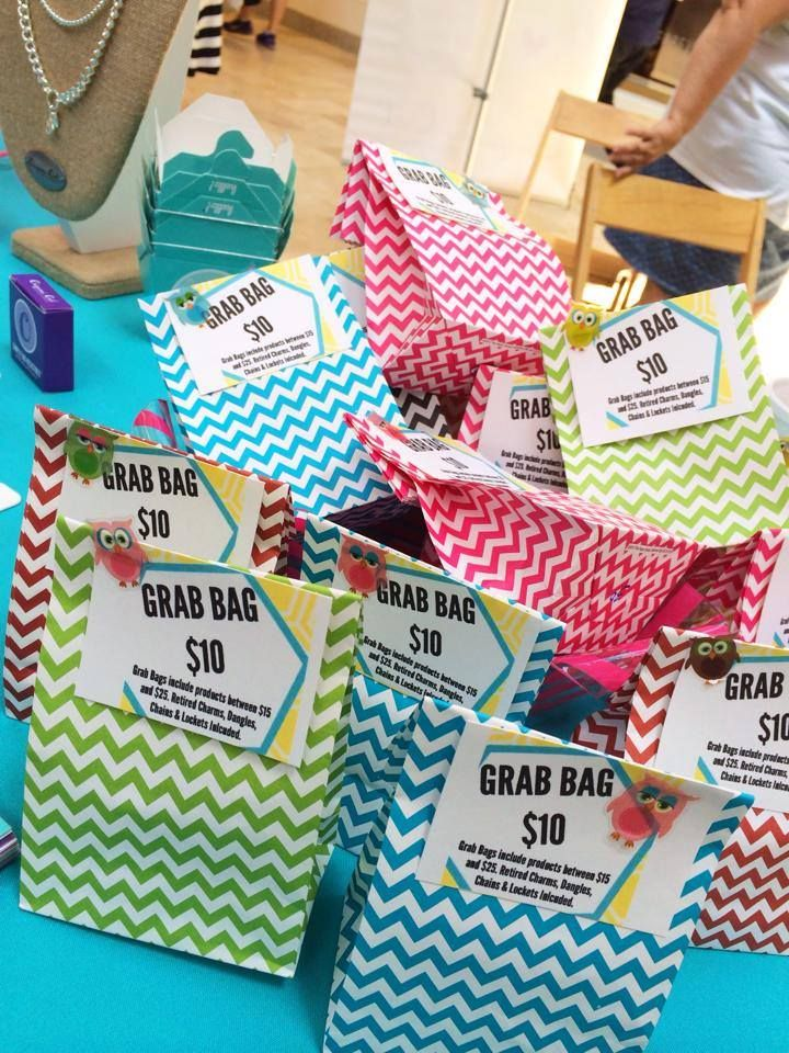 Origami Owl Grab bags - great idea!