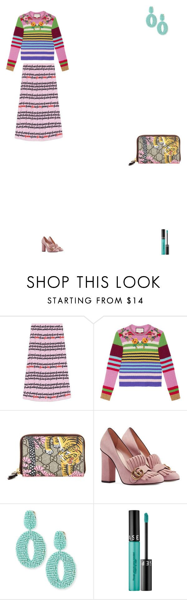 """""""Grace"""" by zoechengrace ❤ liked on Polyvore featuring Gucci, Oscar de la Renta and Sephora Collection"""