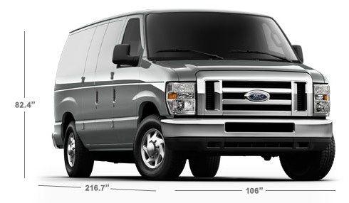 Ford Cargo Van Interior/Exterior Dimensions