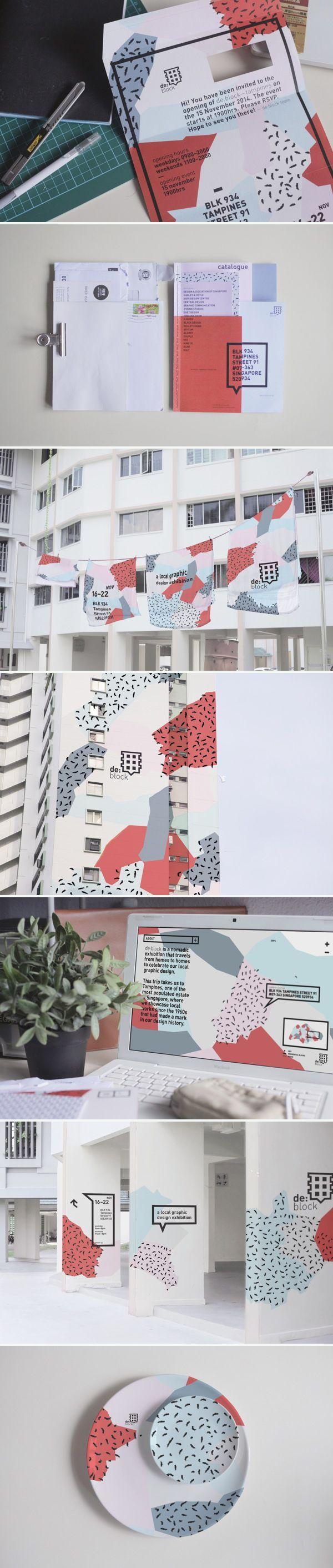 identity / de:block - exhibition design