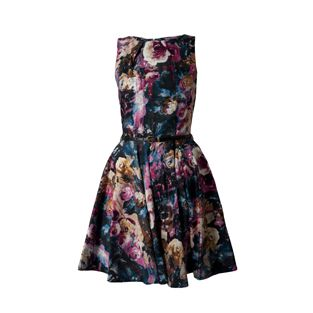 Closet Purple Print Dress   Price 69.95 euro
