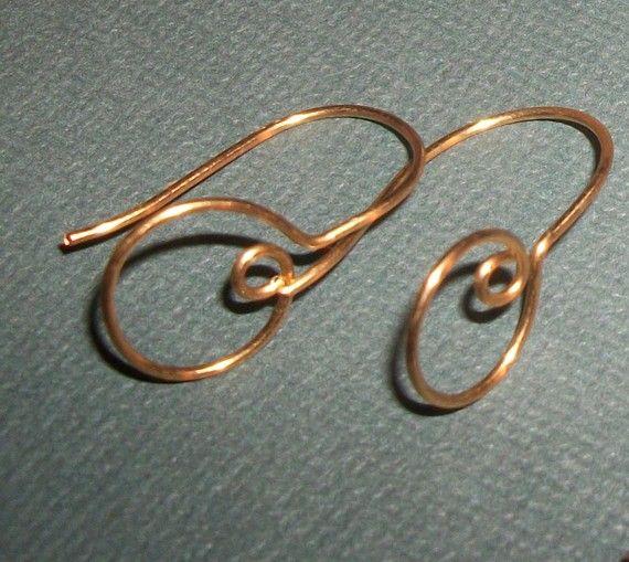 Gold Filled or sterling silver Loop Hoop Handmade 20ga Earwires $17.20 / pr