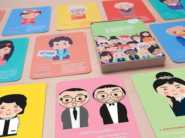 Originele kwartetspel, prachtig geïllustreerd en vol leuke weetjes over bekende…
