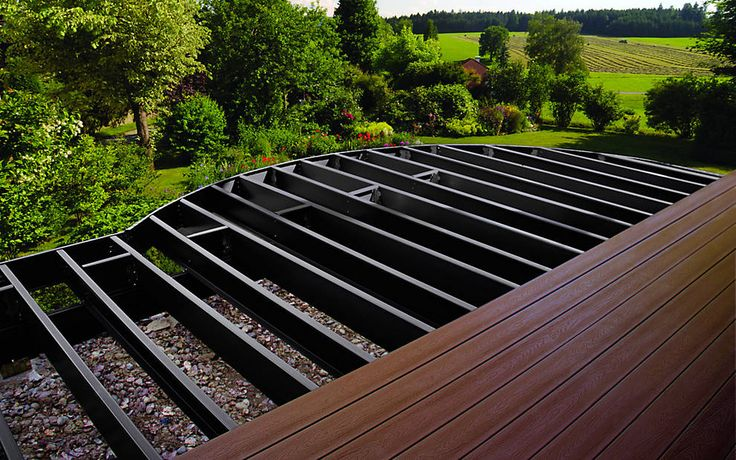 Trex Elevations | Steel Deck Framing & Substructure:  When you daydream about your dream deck, chances are you haven't given much thought to what lies beneath it. Even though your deck's substructure may not make the family photos, it's actually the most important part of your new outdoor space. Our durable triple-coated steel beams, joists and tracks create the strongest, straightest and, yes, greenest structures down below.