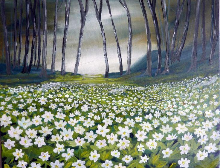 Se Maleriet Anemoner i galleriet på MyArtSpace.dk