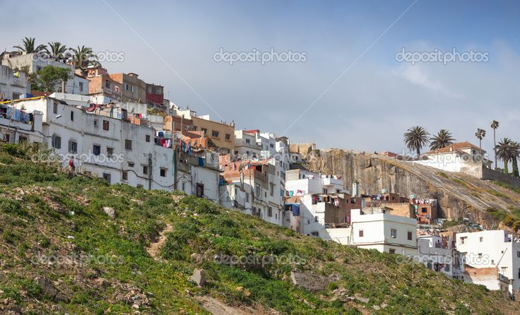 Танжер, Марокко. старые традиционные жилые дома Медина