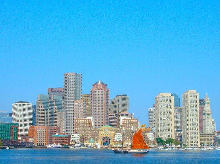 #Photograph #Boston #cityscape from the #sea by Chiara Villata on #500px