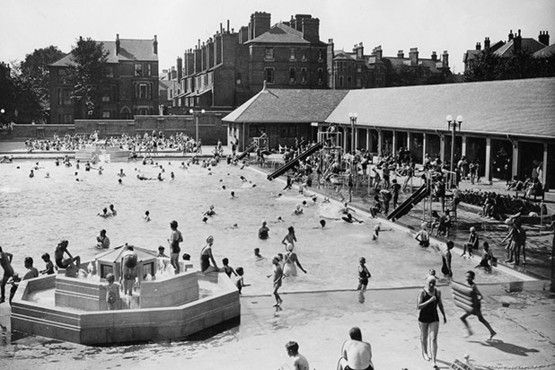 Carrington Lido in the 1950s