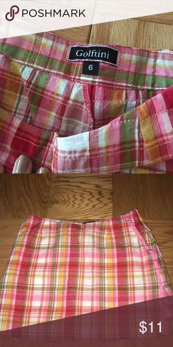 pink plaid size 6 Golftini mini golf skirt pink plaid size 6 mini Golftini golf skirt golftini Skirts Mini