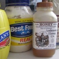 honey mustard sause ~ love this recipe more than store bought stuff