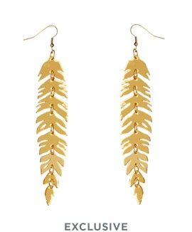 Raven Feather Earrings - Gold // Contemporary 2015 // £55 (sale £27.50)