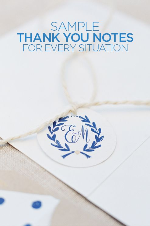 You will always get 10 points for a timely, hand-written note. Read more about thank you note tips and sample thank you notes from Colin Cowie.