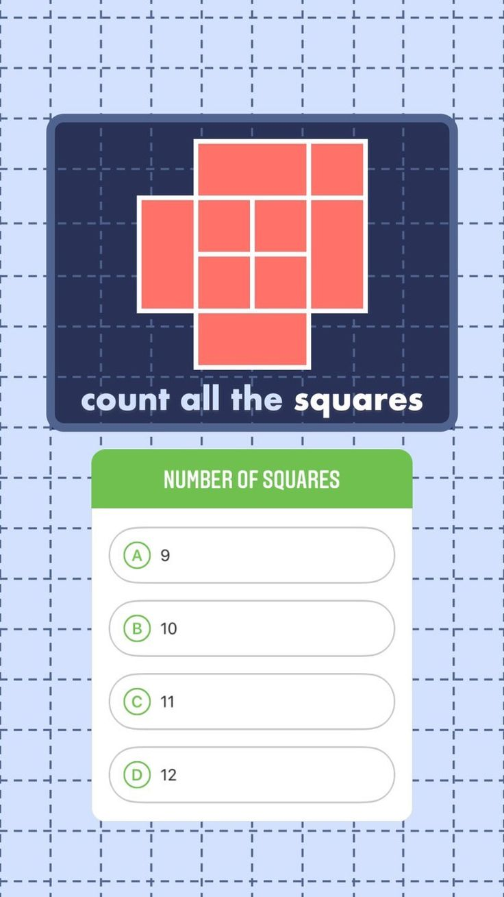 Train Your Brain How Many Squares Can You See In This Picture Geometry Problems Thinking Skills Train Your Brain
