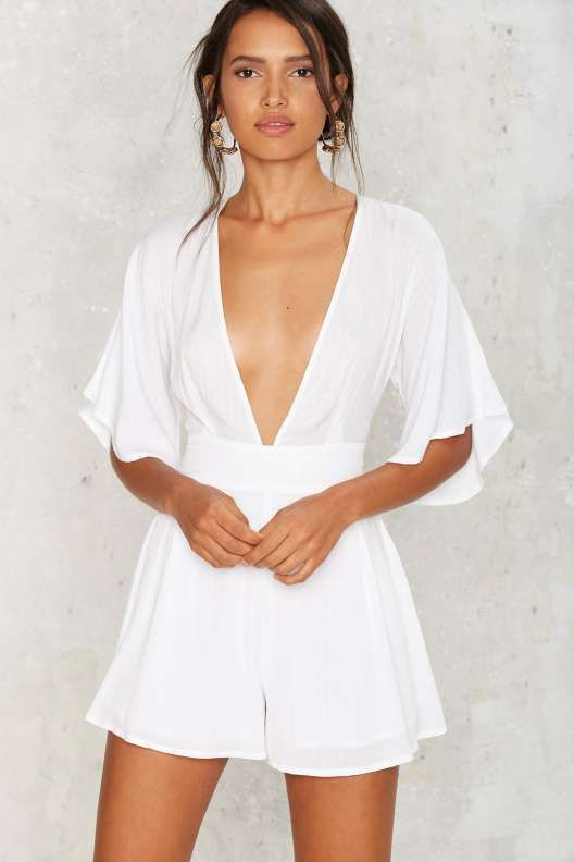 good white romper outfit 8