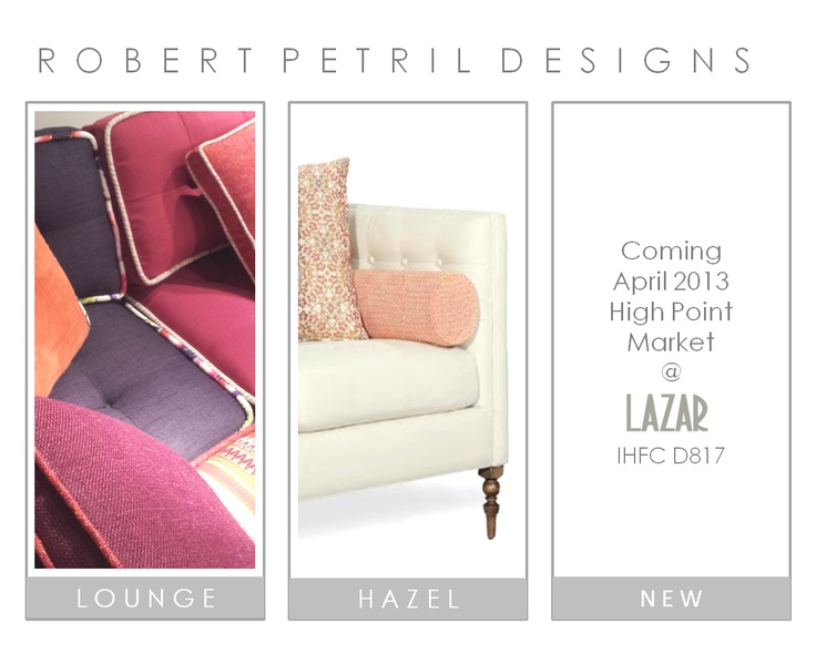 There's something really cool coming this Spring! See my latest seating creation at Lazar in High Point, NC. Showroom IHFC-D817