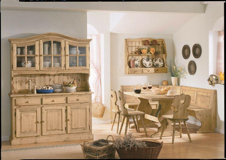30 best images about soggiorni rustici e taverne for Tavoli in legno massello rustici