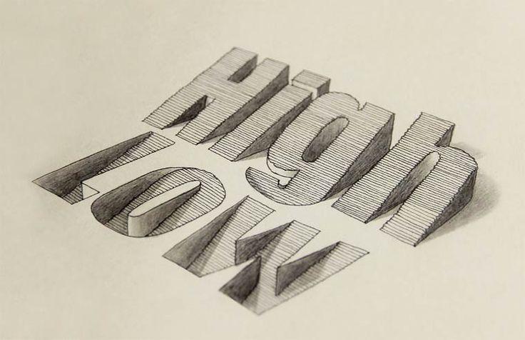 Une nouvelle sélection des excellentes créations de typographie 3D dessinées à la main par legraphic designer et illustrateur anglais Lex Wilson, basé à