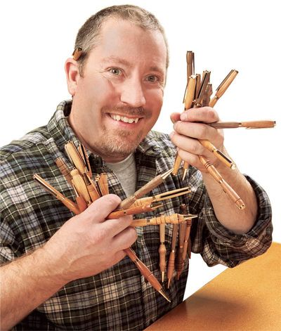 Woodturning with Pen Blanks to Create Small Scale Wood Pen Kit Projects. Rockler.com