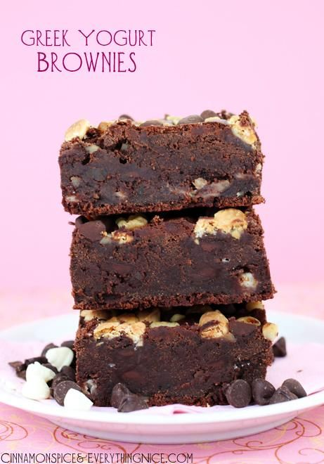 Greek Yogurt Brownies via @Irene Hoffman Hoffman Provost | Cinnamon Spice