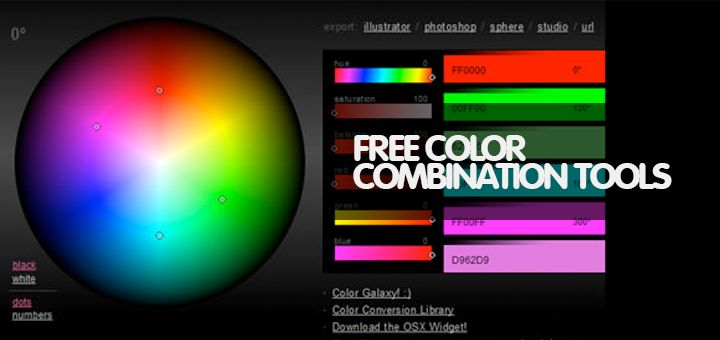 In this post we will show you 25 powerful free color combination tools for graphic designers and web designers. If you are web designer or developer and if would you like to custom color combos, today we have collected and amazing collections for you. All tools 100% free for online usage, you can just edit and change your custom color combinations. Take control of colors with the intuitive 3D color scope.