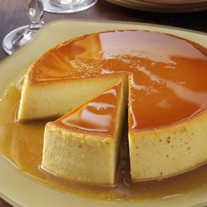 Creamy Caramel Flan Great dessert for your Cinco de Mayo feast.  If you're unfamiliar with flan, think of it as a tasty variation on custard. One warning, though—it's very filling. A small slice of flan goes a long way!