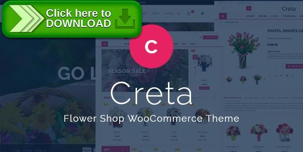[ThemeForest]Free nulled download Creta - Flower Shop WooCommerce WordPress Theme from http://zippyfile.download/f.php?id=7987 Tags: flower shop, flower shop wordpress, Flower Store Template, Flower store theme, Flower store website, Flower store website wordpress, Flower store woocommerce template, Flower store wordpress theme, Flower store wp theme, Flowers responsive theme, Flowers templates, flowers theme, Flowers woocommerce theme, Flowers wordpress theme, online Flower s