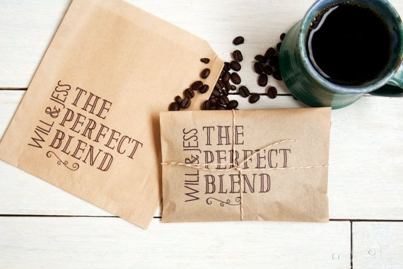 Wedding Favor Coffee Bag The Perfect Blend Wedding by mavora